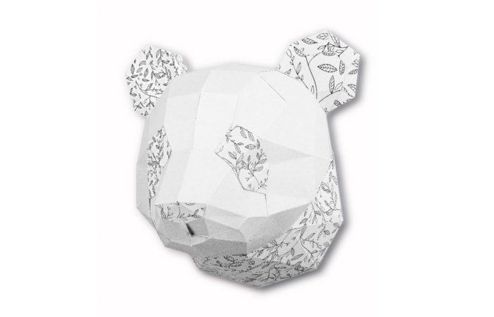 Small panda coloring trophy 1