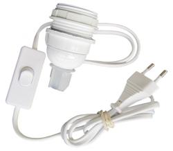 Câble luminaire interrupteur plastique blanc
