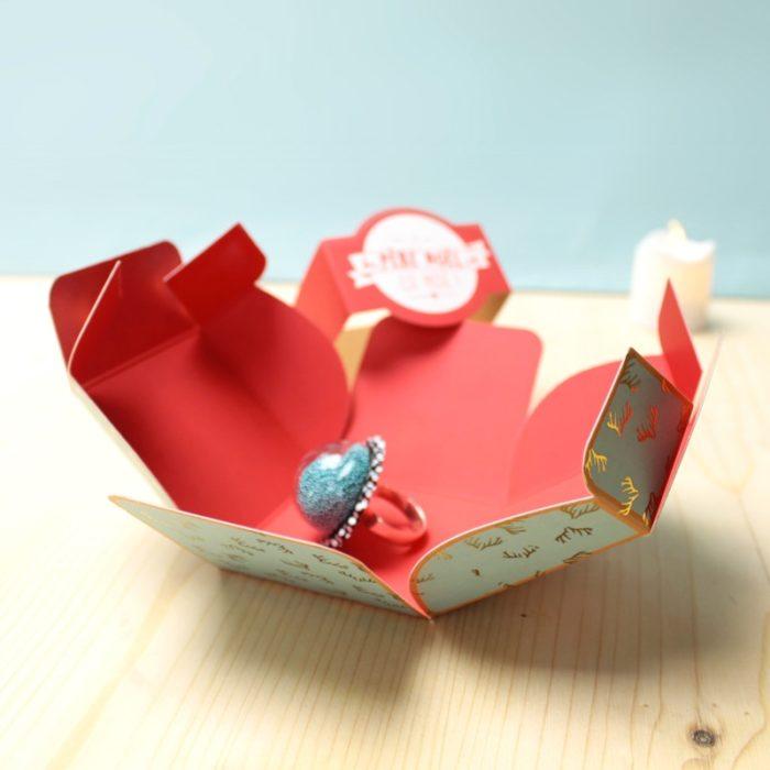 Boîtes bague cerf en papier