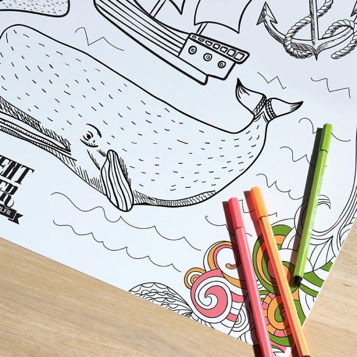 Poster Normandie à colorier 1200 x 800