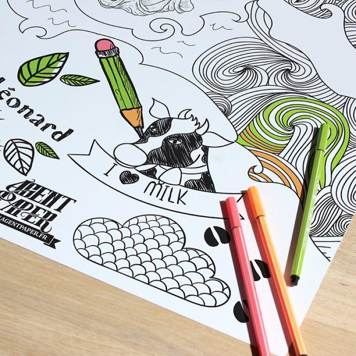 Poster Honfleur à colorier 1200 x 800