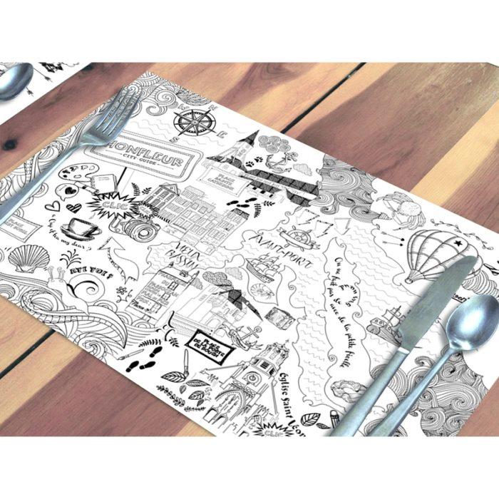 10 sets de table honfleur en papier