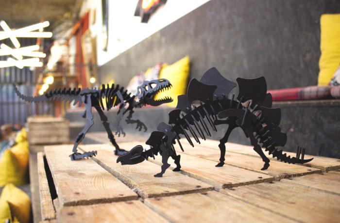 Cardboard tyrannosaurus 3