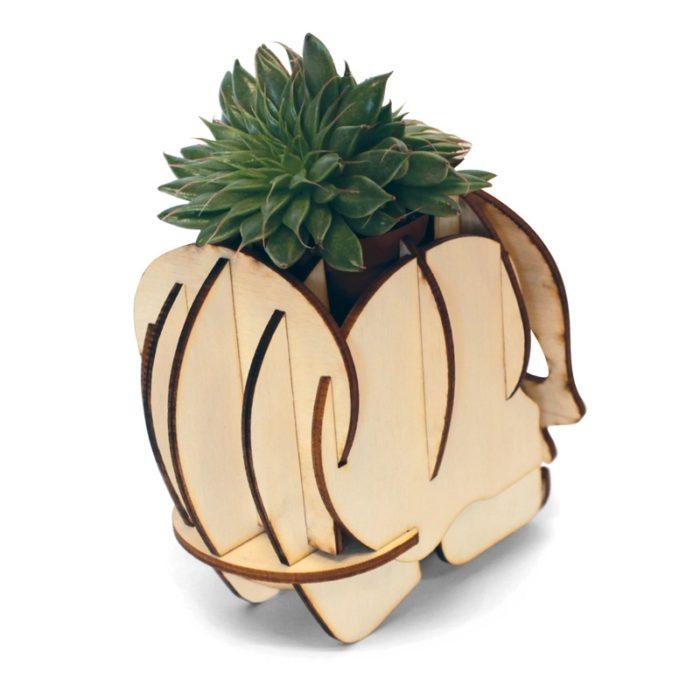 Crâne calavera en bois