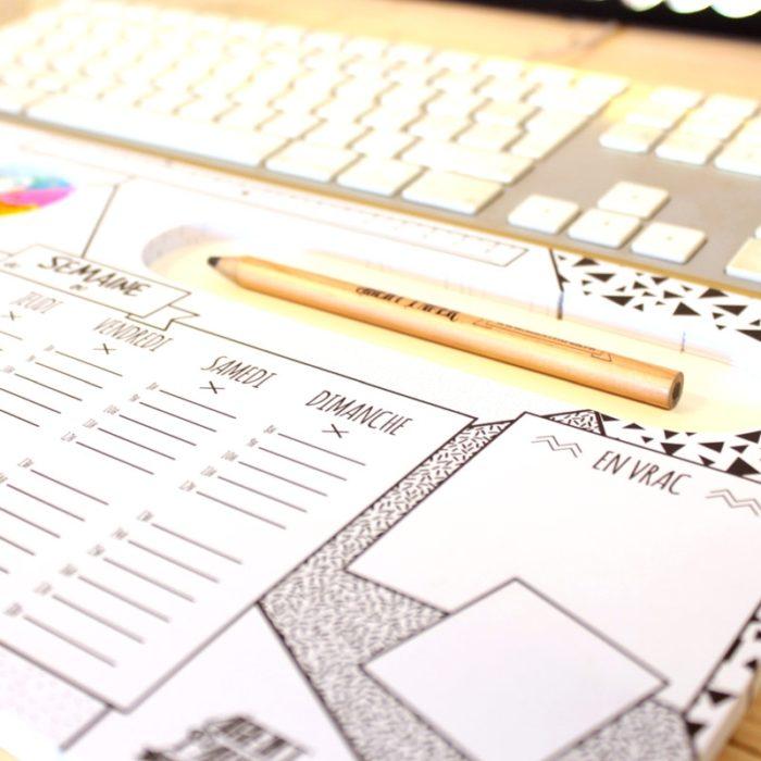 Weekly planner desk pad 5
