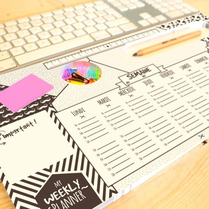 Weekly planner desk pad 6