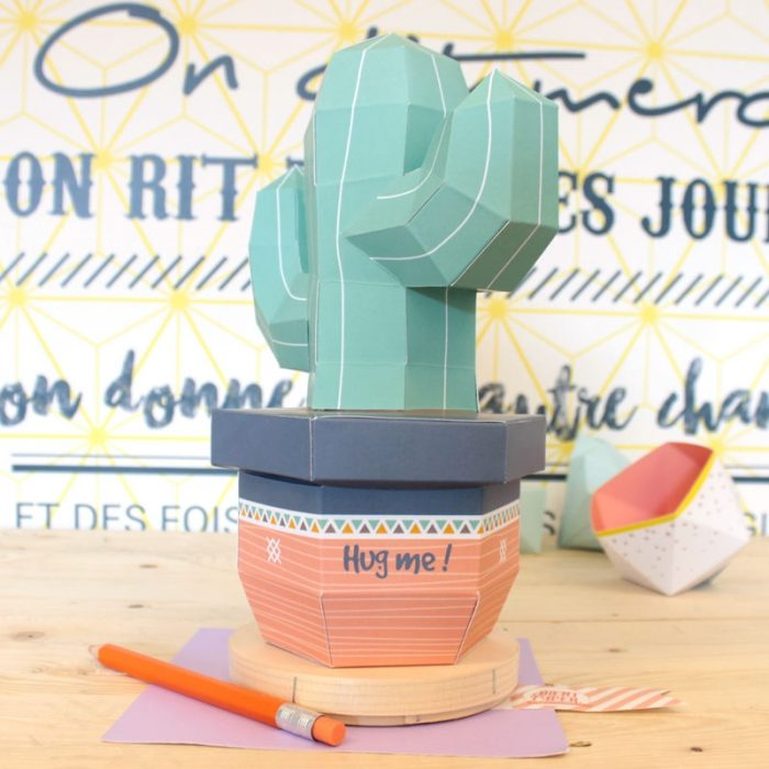 3D paper cactus 2