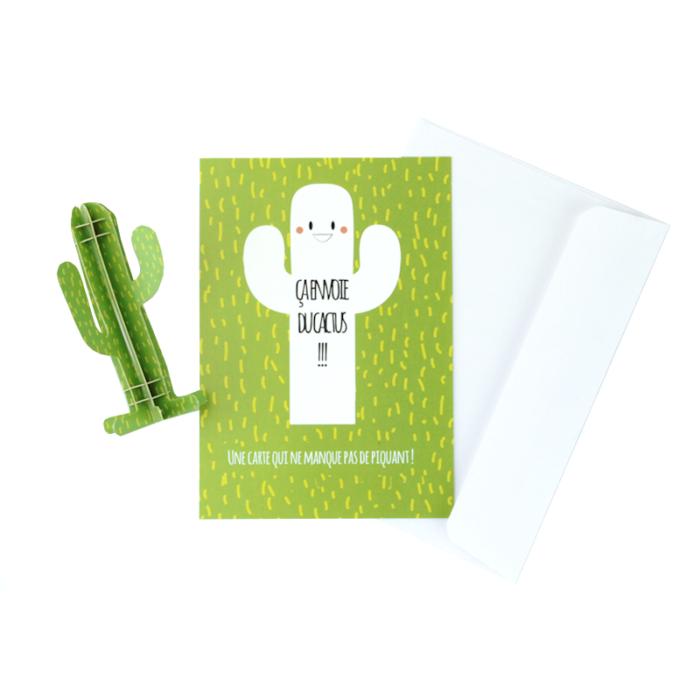3D cactus card 1
