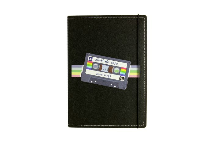 Carnet cuir personnalisé cassette