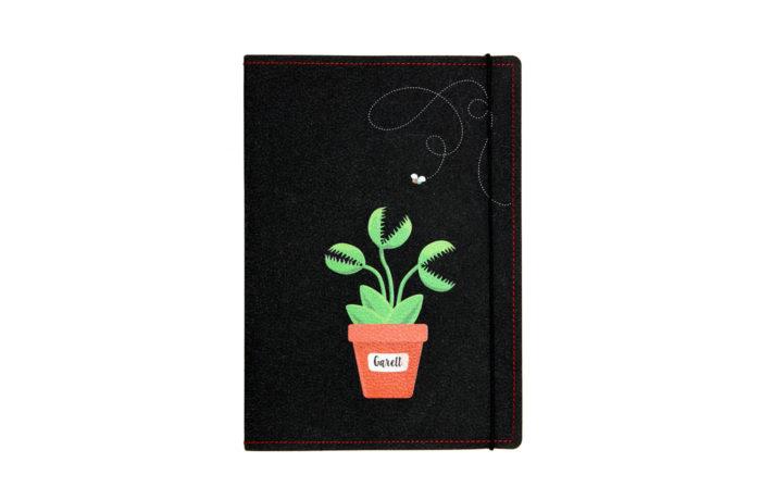 Carnet cuir personnalisé plante carnivore