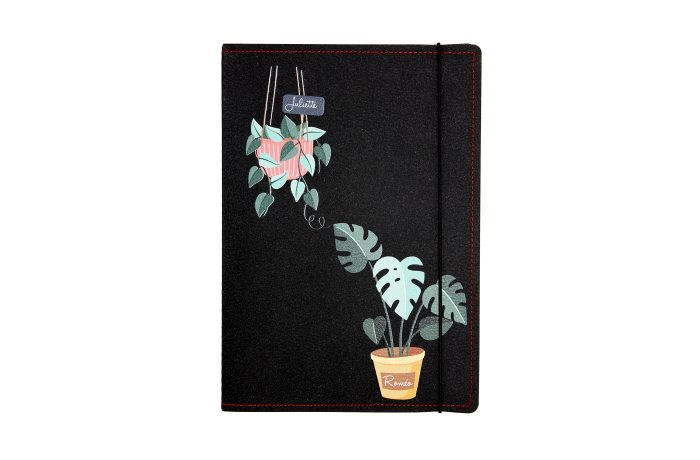 Carnet cuir personnalisé plante