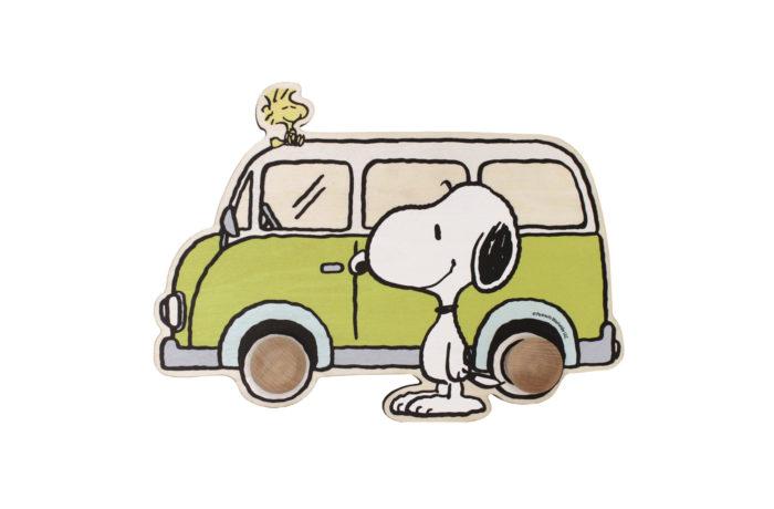 Porte-manteau Snoopy pistache