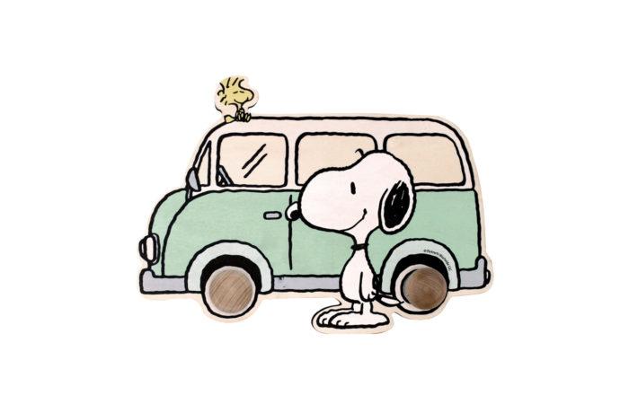 Porte-manteau Snoopy vert