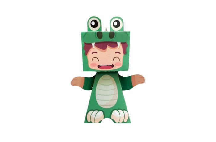 Papertoy dinosaure