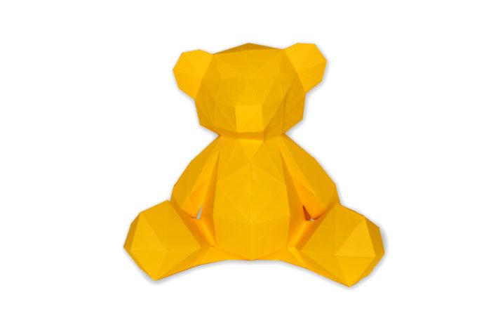 3D paper bear cub 5