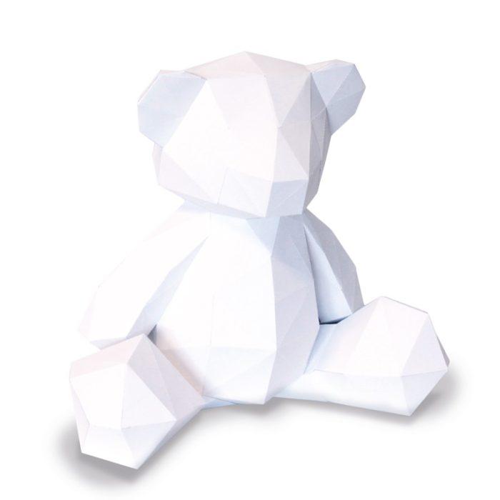 3D paper bear cub 9