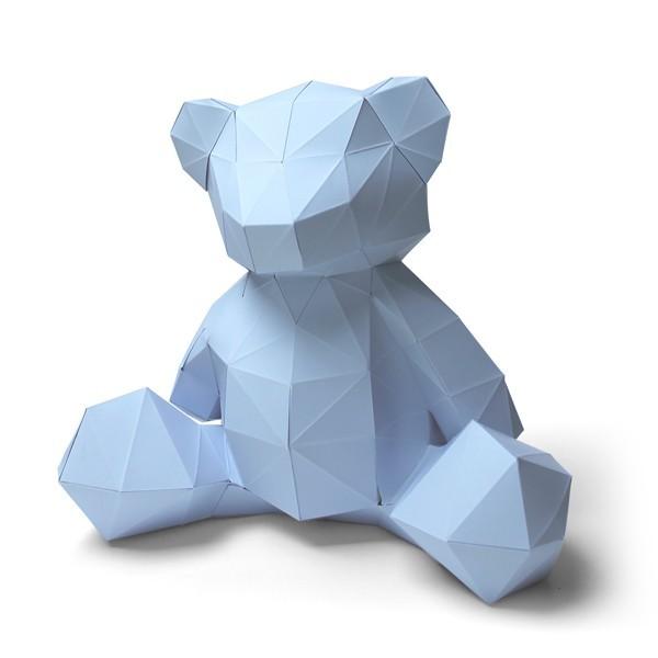 3D paper bear cub 7