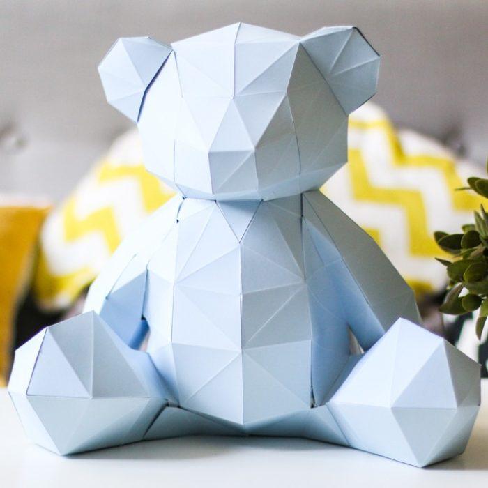 3D paper bear cub 1