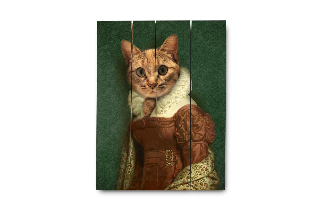 portrait d/'une jument en robe OLYMPE id\u00e9e cadeau \u00e9ventail personnalisable avec la photo de votre animal portrait animalier en costume