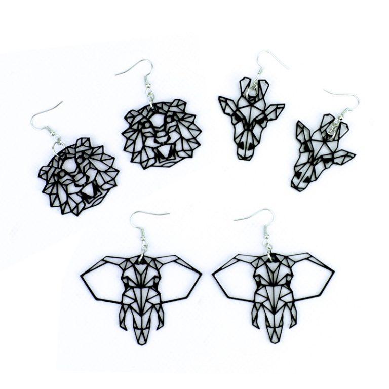 Boucles d'oreilles Animaux géometriques