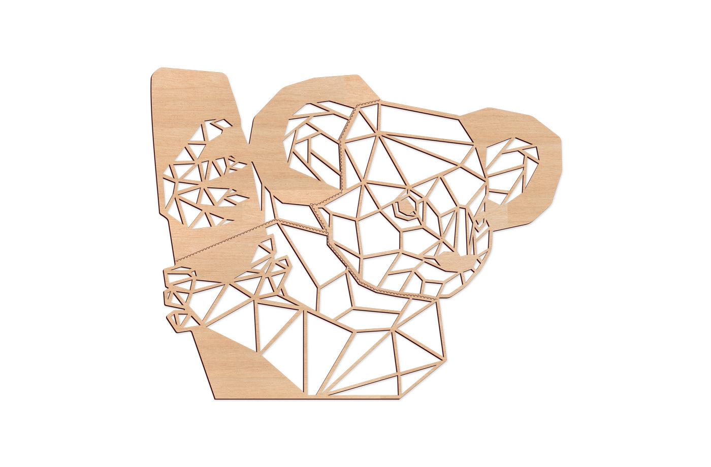 Trophée Géométrique Koala XL 2