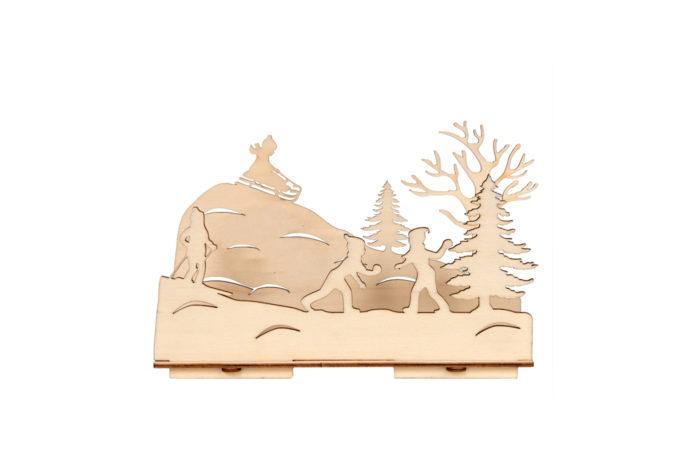Bougeoir en bois 1
