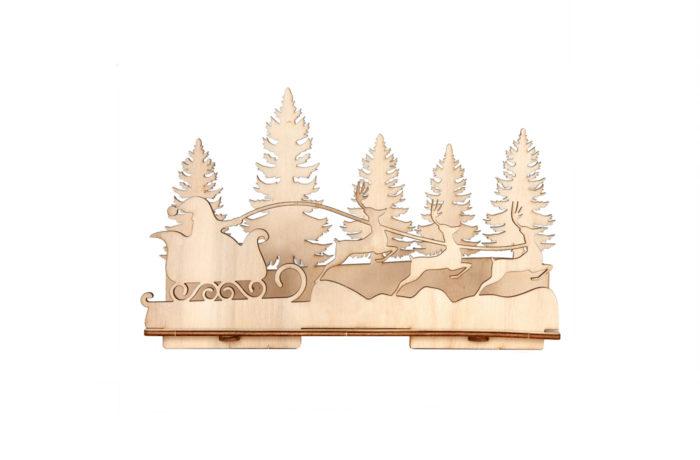 Bougeoir en bois 4