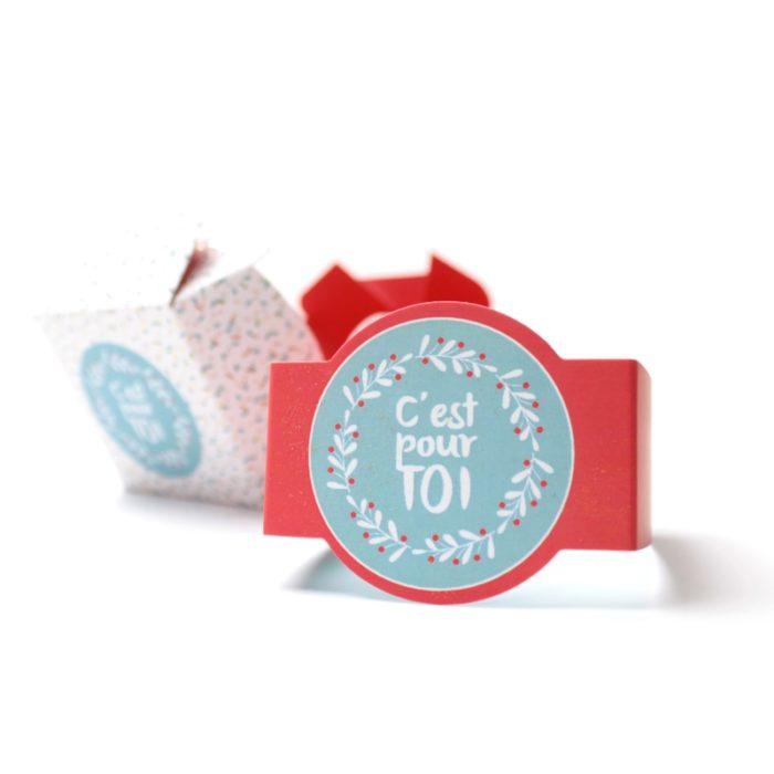 Boîtes bague confettis en papier