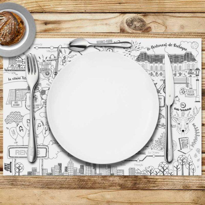 10 sets de table rennes en papier
