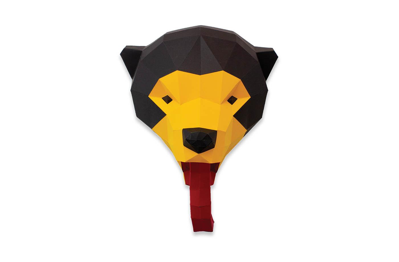 Grizzly en papier 3D