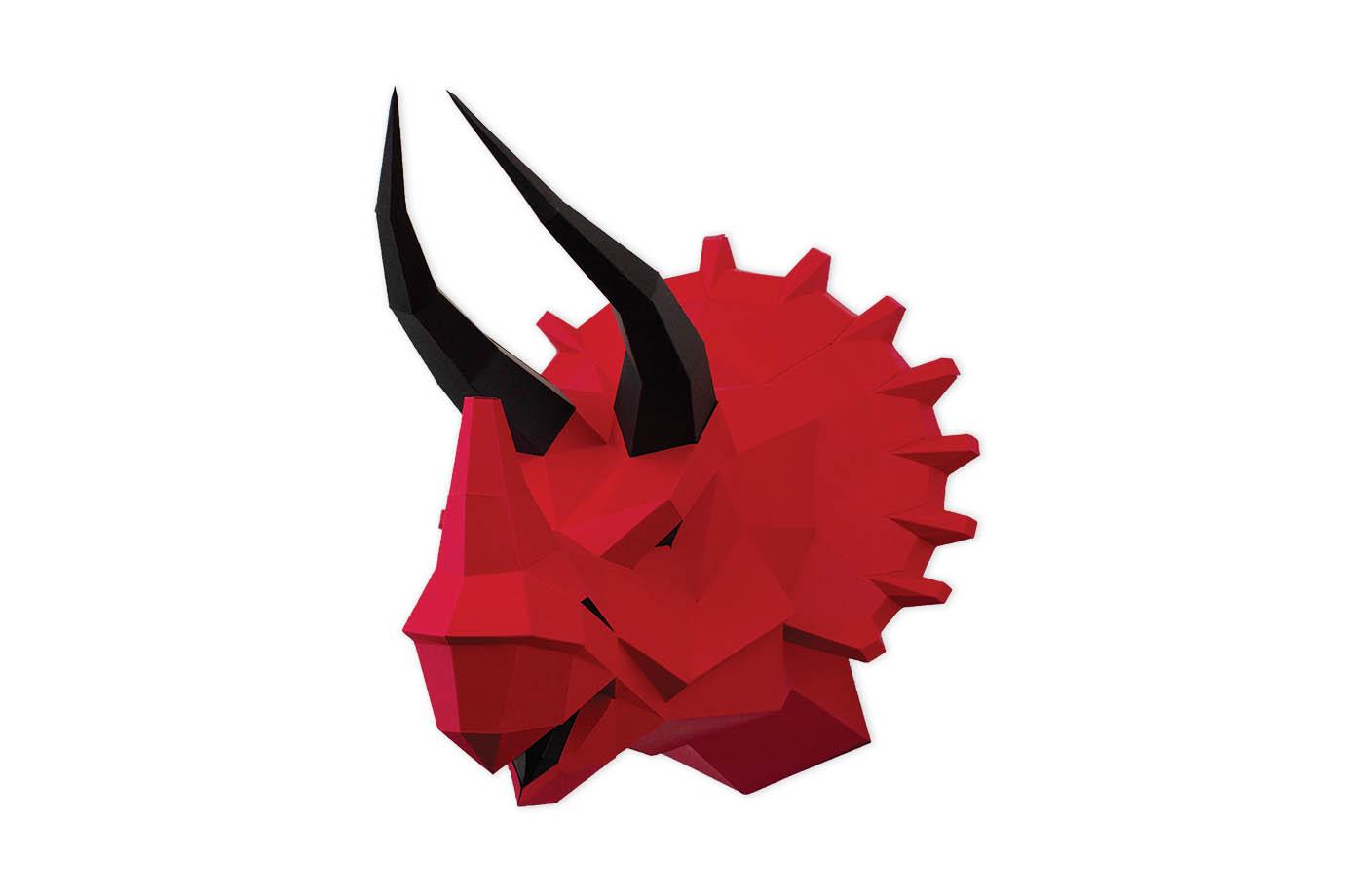 Tricératops en papier 3D
