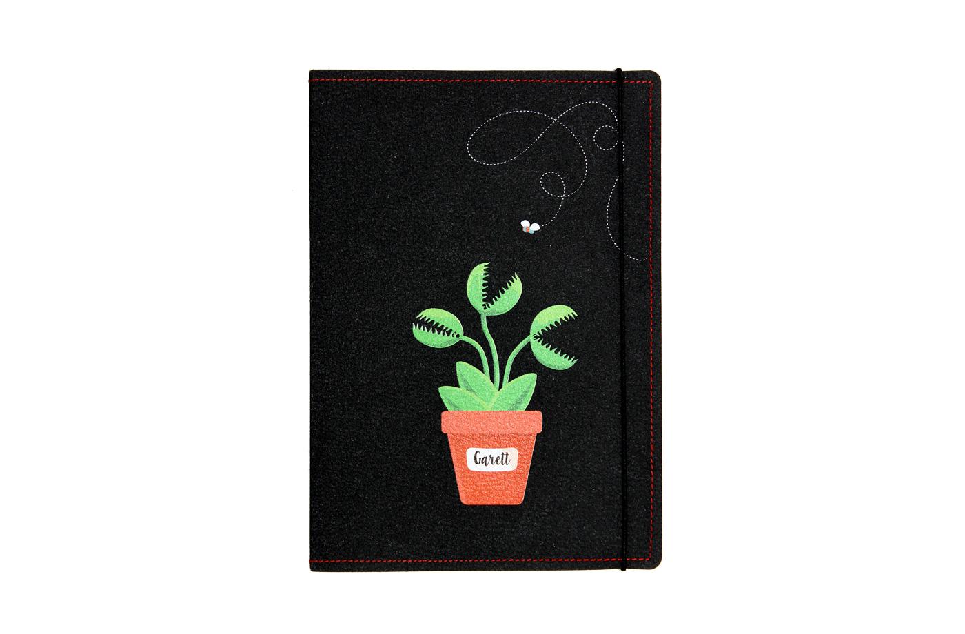 Carnet cuir personnalisé Plantes 6