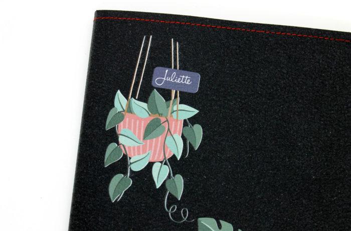 Carnet cuir personnalisé Plantes 5
