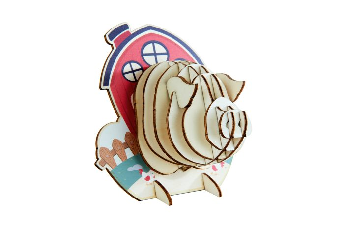 Trophées à poser animaux en bois - cochon