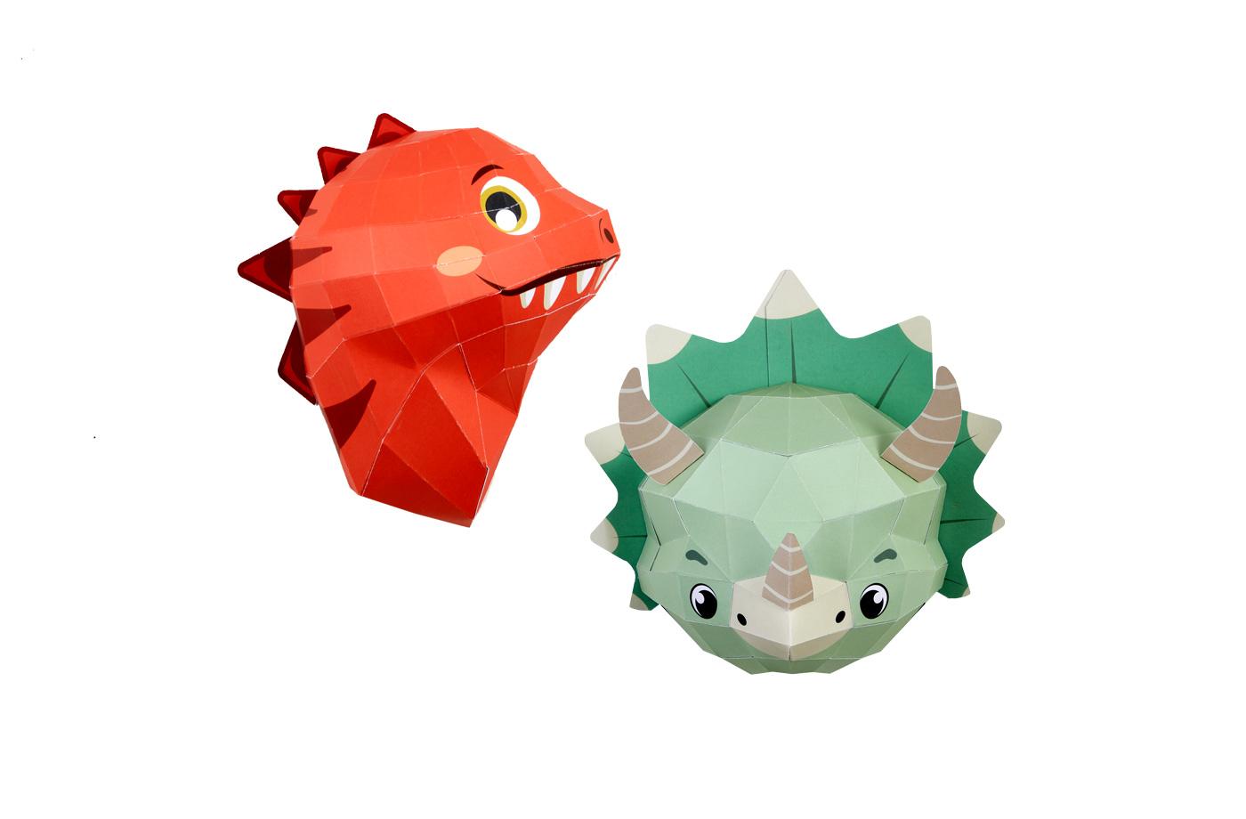 Têtes de dinosaures